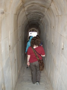 Tunnel into the inner sanctuary at the Temple of Apollo at Didyma (Miletus). Photo by Alison Innes.